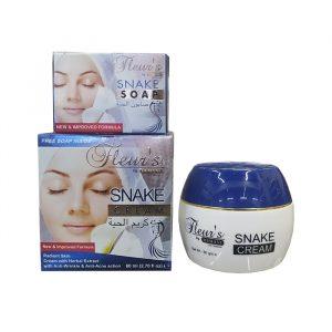 Крем  для лица с жиром змеи + мыло в подарок Fleurs Hemani  Snake cream 80 грамм