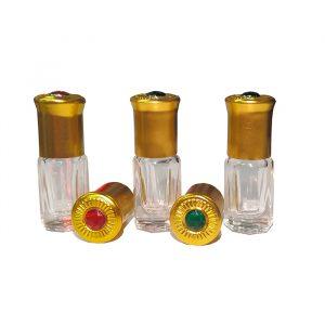 Флакон   стеклянный   парфюмерный 2 — 3 мл  для масел с  шариком .