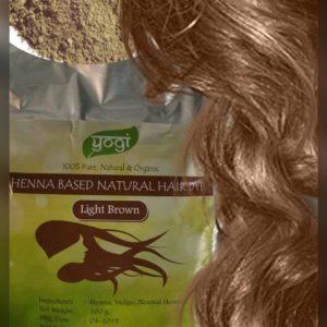 Хна натуральна  Henna light brown Yogi Globals светло-коричневая 100 грамм