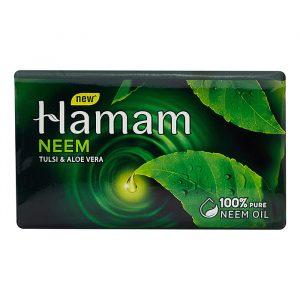 Индийское Аюрведическое мыло Hindustan Unilever Hamam с экстрактами Нима, Тулси и Алое Вера 150 грамм