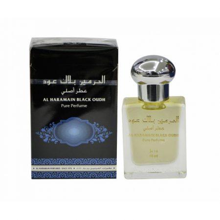 Масляные духи для мужчин Al Haramain Black Oudh15 мл Черный Уд