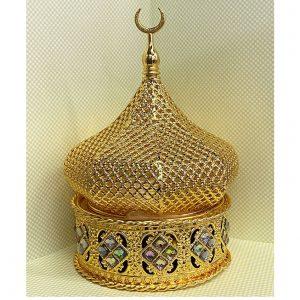 Бахурница  для окуривания RN027 в форме купола (золотистая)