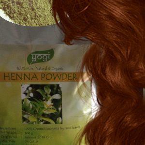 Хна Индийская натуральна ( рыжая) Henna Natural  Yogi Globals 100 грамм