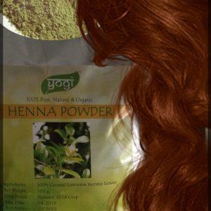 Хна натуральна (рыжая) Henna natural Yogi Globals 250 грамм