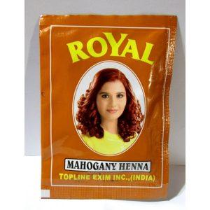 Индийская хна для волос Topline Exim Inc. Henna   Royal   Mahogany  Махагон Royal 10 г