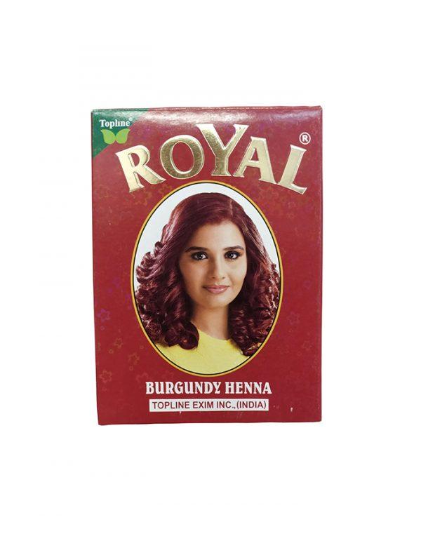 Индийская хна для волос Topline Exim Inc. Henna Royal Burgundy Бургунд 10 рамм