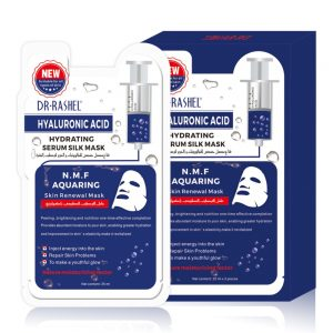 Шелковая маска для лица с гиалуроновой кислотой DR.RASHEL Hyaluronic Acid Serum Silk Mask  по 25 мл  1 саше