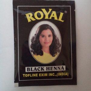 Индийская хна для волос Topline Exim Inc. Henna   Royal  Black  черная 10 грамм