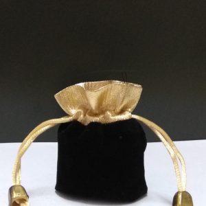 Подарочный мешочек маленький  золотой