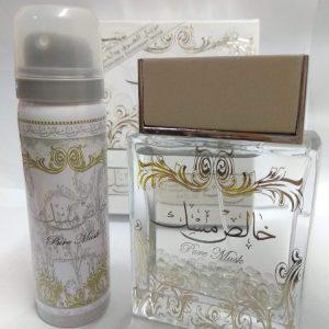 Парфюмированная вода и дезодорант для женщин  Lattafa Perfumes  Pure Musk / Чистый Мускус 100 мл