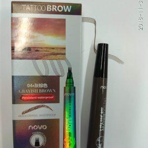 Карандаш для бровей микроблейдинг ( имитирующий волоски) Novo Tattoo Eyebrow  коричневый 2 гр