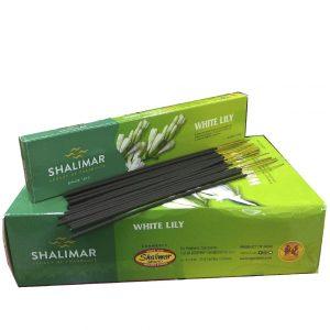 Аромапалочки благовония индийские Shalimar White Lily 20 шт