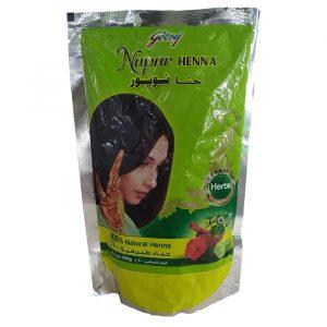 Индийская натуральная хна для волос  Godrej Nupur Henna  с Амлой, Брахми и Бринграджем  200 грамм