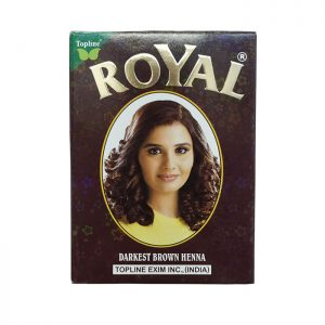 Индийская хна для волос Henna Royal Darkest Brown темно-коричневая 10 грамм