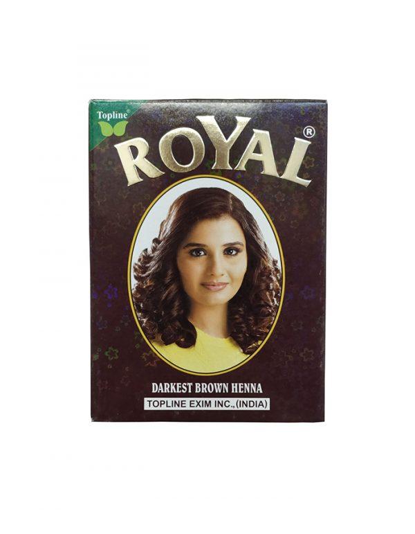 Индийская хна для волос Topline Exim Inc. Henna Royal Darkest Brown темно-коричневая