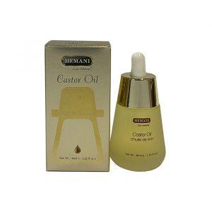 Премиум касторовое масло  для роста ресниц и бровей  Hemani Premium Castor Oil  40 мл