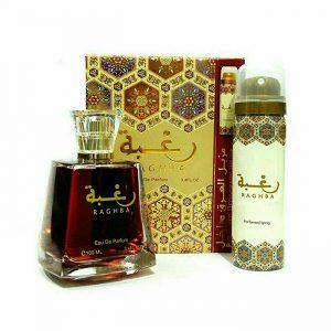 Парфюмированная вода и дезодорант унисекс Lattafa Perfumes Raghba / Рагба 100 мл