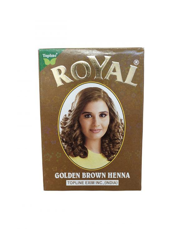 Хна индийская Topline Exim Inc.,Henna Royal Golden Brown светло - коричневая 10 грамм
