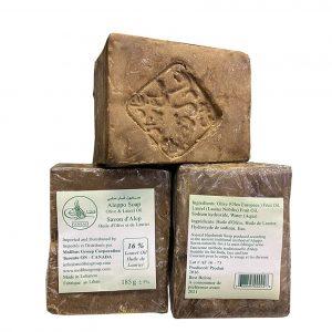 Мыло Алеппское лавровое с оливковым маслом 185 грамм