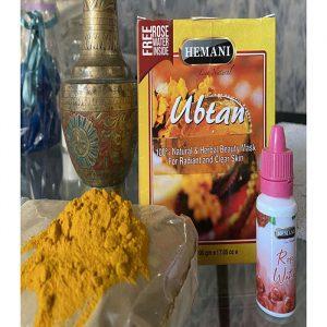 Убтан травяной с Куркумой для сияния и оздоровления  кожи  Hemani Ubtan  200 грамм  плюс Розовая вода