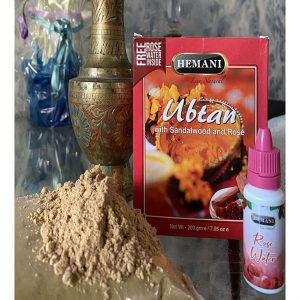 Убтан травяной с Сандалом и Розой от морщин  Hemani Ubtan  200 грамм  плюс Розовая вода