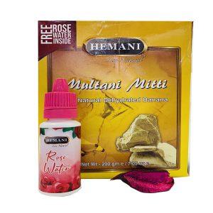 Маска для лица Hemani  Multani Mitti  c банановой пудрой 200 грамм