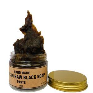 Африканское черное мыло-паста African Black soap paste 150 грам