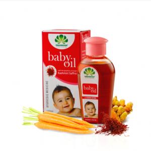 Аюрведическое масло с Кашмирским шафраном Pankajakasthuri Herbals Baby  oil 100 мл