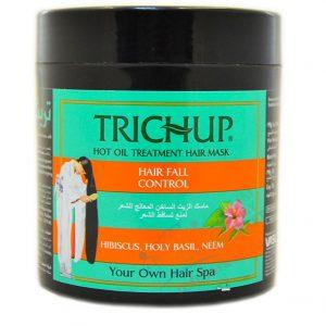 Маска от выпадения  волос горячая Trichup Hot oil Hibiscus, Basil, Neem   500 мл